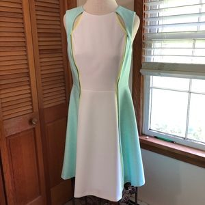 NWT Catherine MALANDRINO stretch fit flare dress